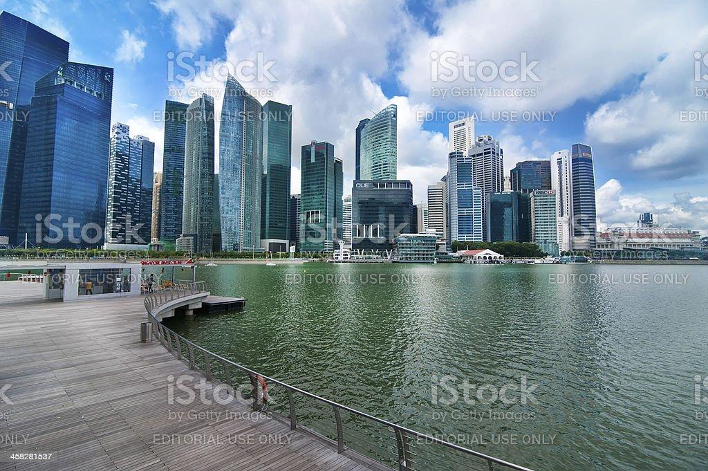 Urban landscape of Singapore royalty-free stock photo