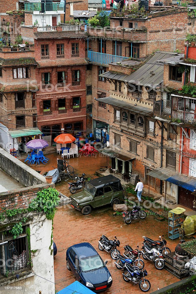 Urban Life in Kathmandu, Nepal royalty-free stock photo