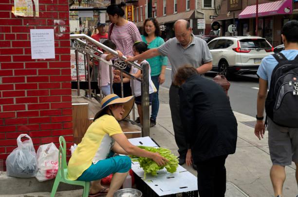 PA: Urban Life in Philadelphia's ChinaTown stock photo