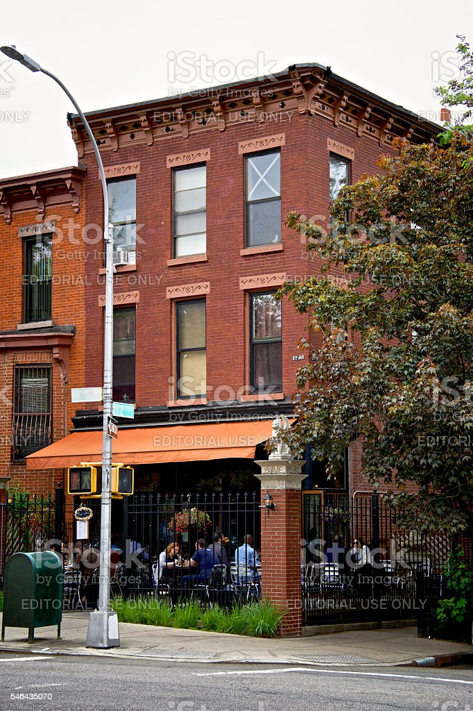 Urban Life New York City People Cafe Park Slope Brooklyn