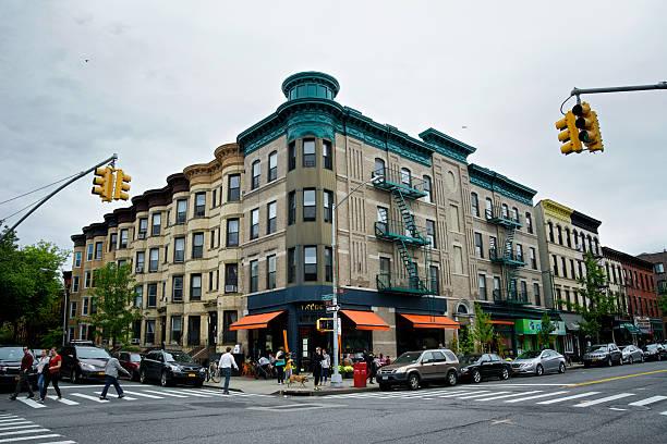 Urban Life, New York City, People, Cafe, Park Slope Brooklyn. stock photo