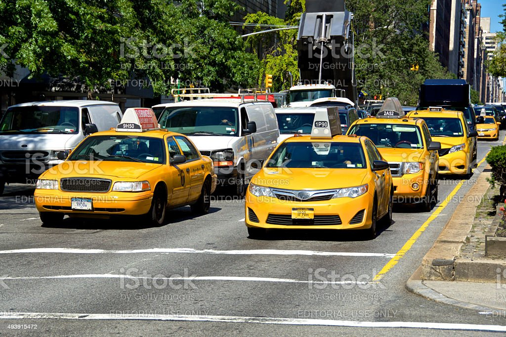 Urban Life, New York City Traffic Congestion, Park Ave, Manhattan stock photo