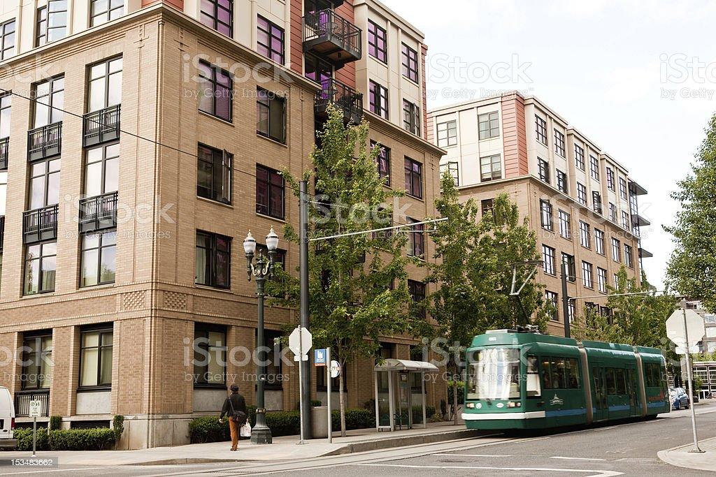 Urban Light Rail Streetcar royalty-free stock photo