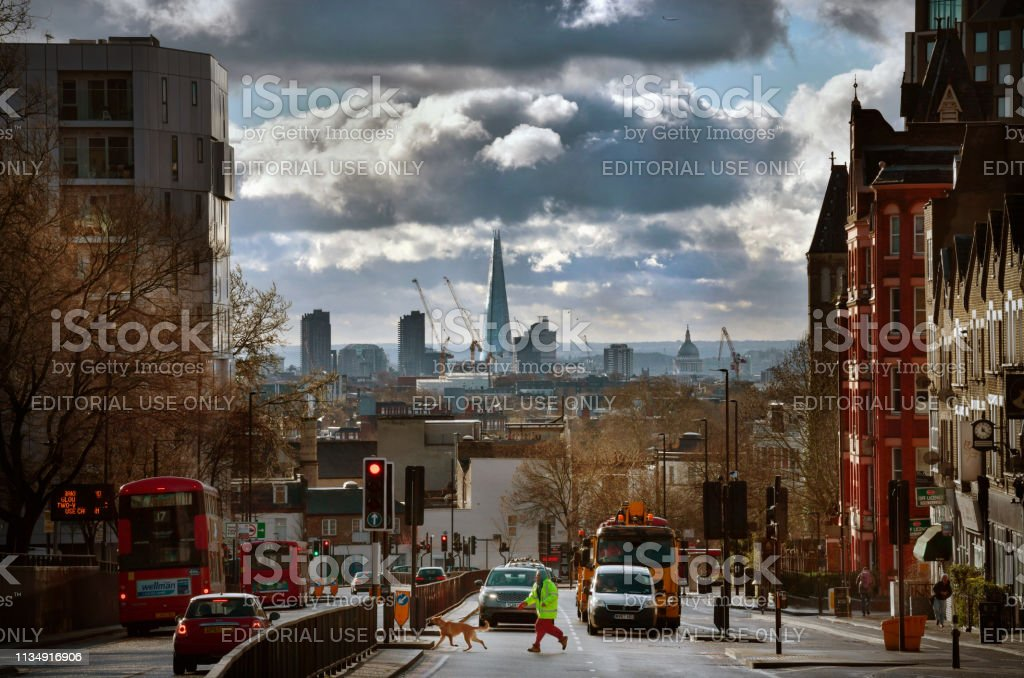 Urban City Photography 70 Dramatic Examples: Urban London With City Skyline Stock Photo