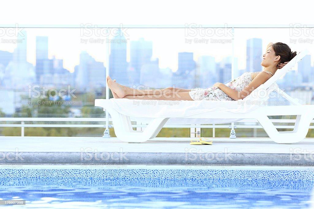 Urban luxury city lifestyle woman stock photo