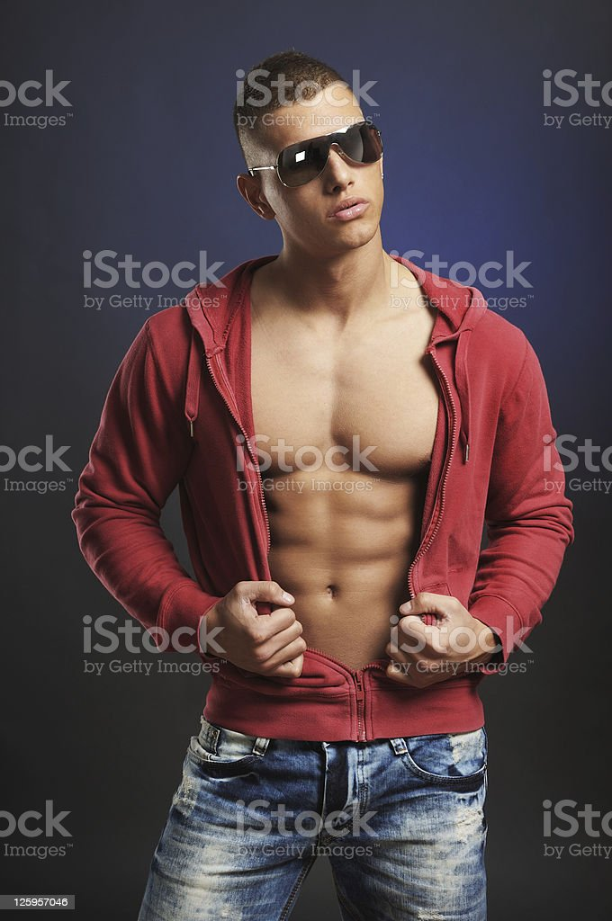 Urban Macho Man stock photo