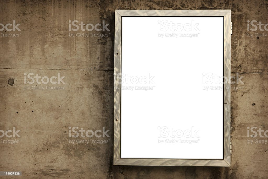 Urban Marketing - Blank Poster Sign royalty-free stock photo