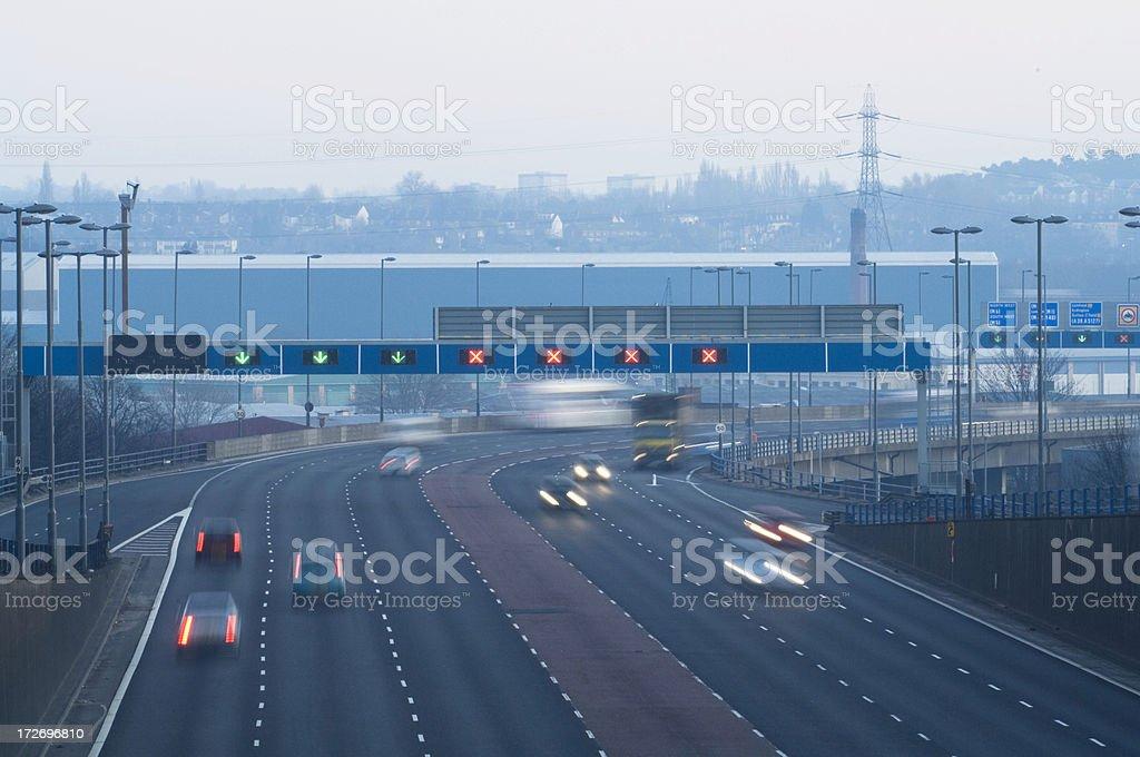 Urban Motorway in Birmingham UK royalty-free stock photo
