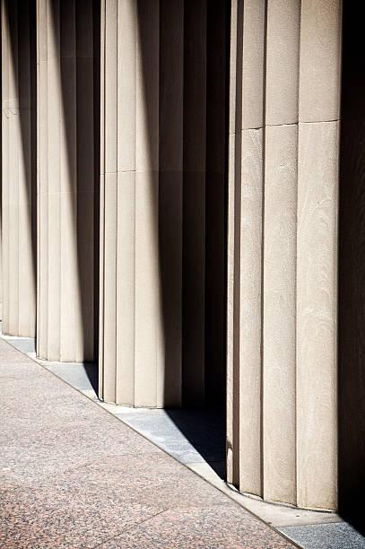 Urban Nashville structures columns stock photo