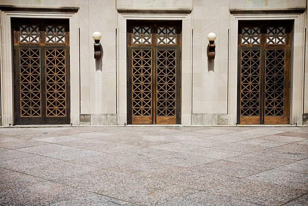 Urban Nashville structures - doors stock photo