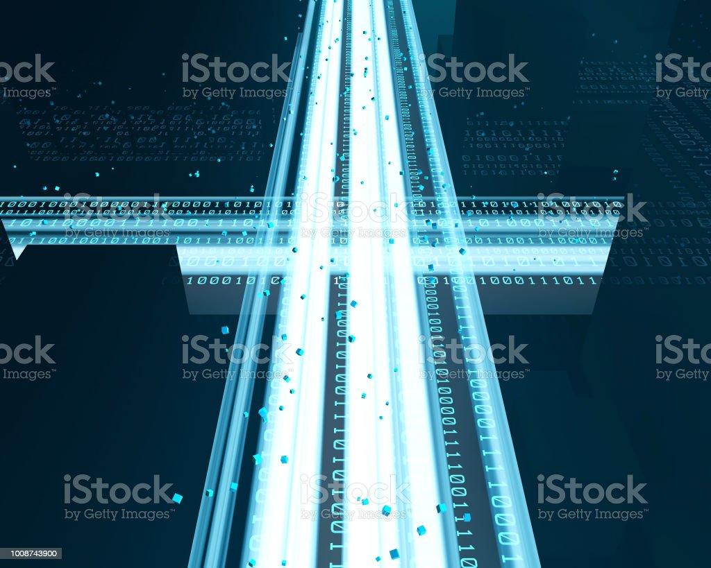 Technologie de réseau urbain, vitesse de réseau moderne - Photo