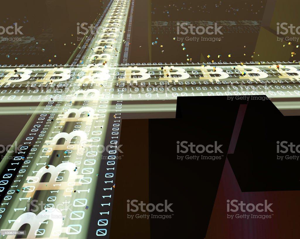 Technologie de réseau urbain, vitesse de réseau moderne, bitcoin - Photo