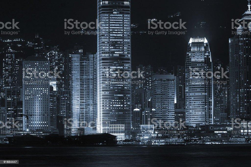 Urban night glow 4 duotone royalty-free stock photo