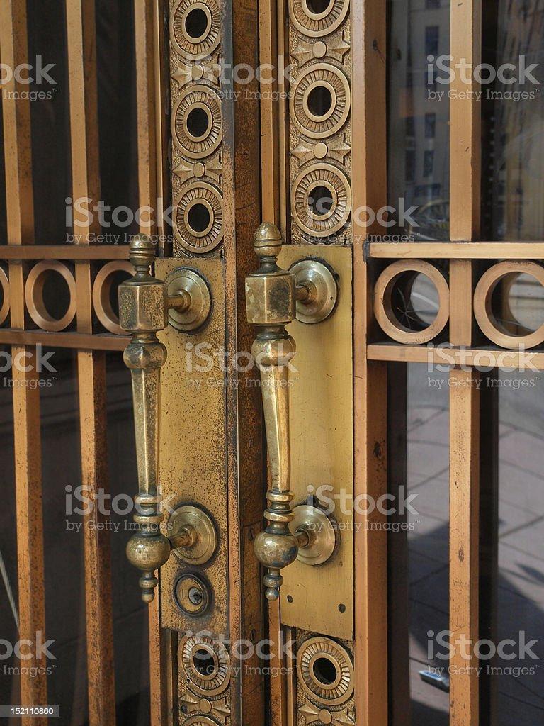 Urban Ornate Door Handle stock photo
