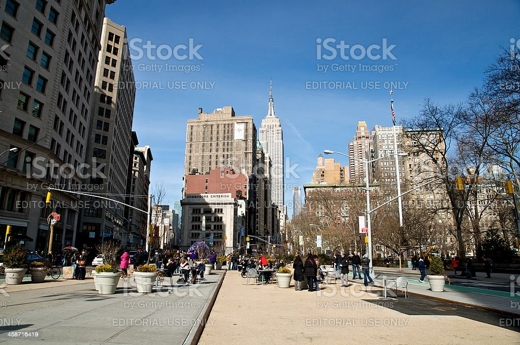 Urban outdoor public space, 23rd St. New York City, USA royalty-free stock photo