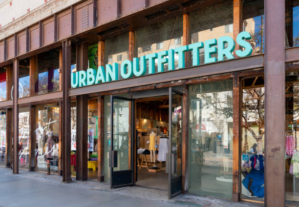 Urban Outfitters Retail Store Exterior and Trademark Logo stock photo