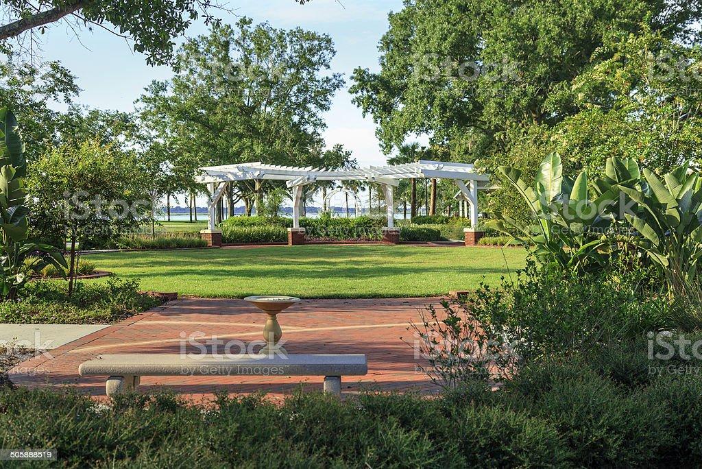 Urban Park and Garden stock photo