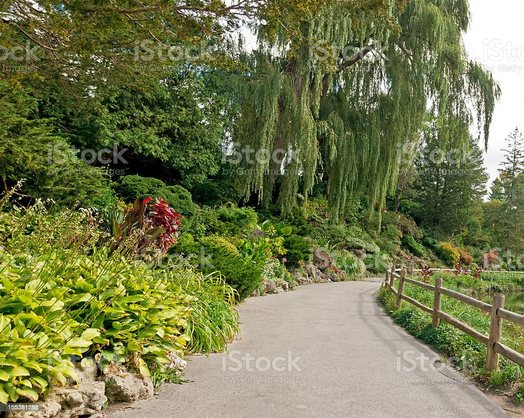 Urban park in Late Summer/Early Autumn season - IV royalty-free stock photo