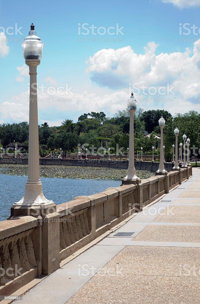 Urban Park Lakeland Florida stock photo