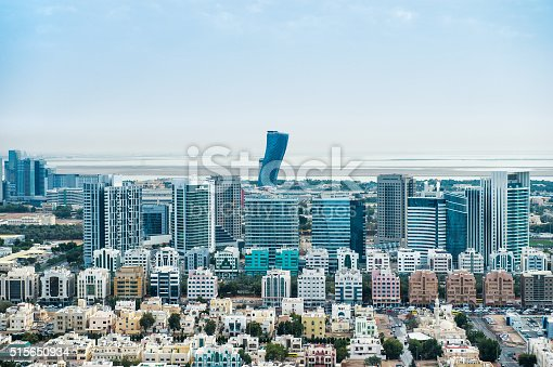 517465184 istock photo Urban part of Abu Dhabi viewed from the air 515650934