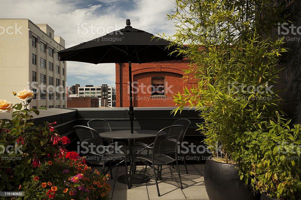 Urban Patio royalty-free stock photo
