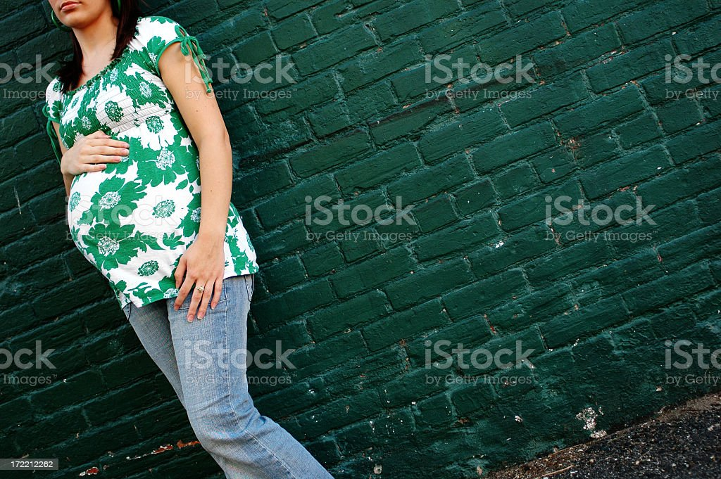 Urban Pregnancy royalty-free stock photo