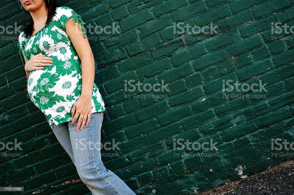 Urban Pregnancy stock photo