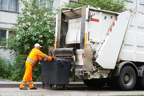 都会とゴミの廃棄リサイクルサービス ストックフォト