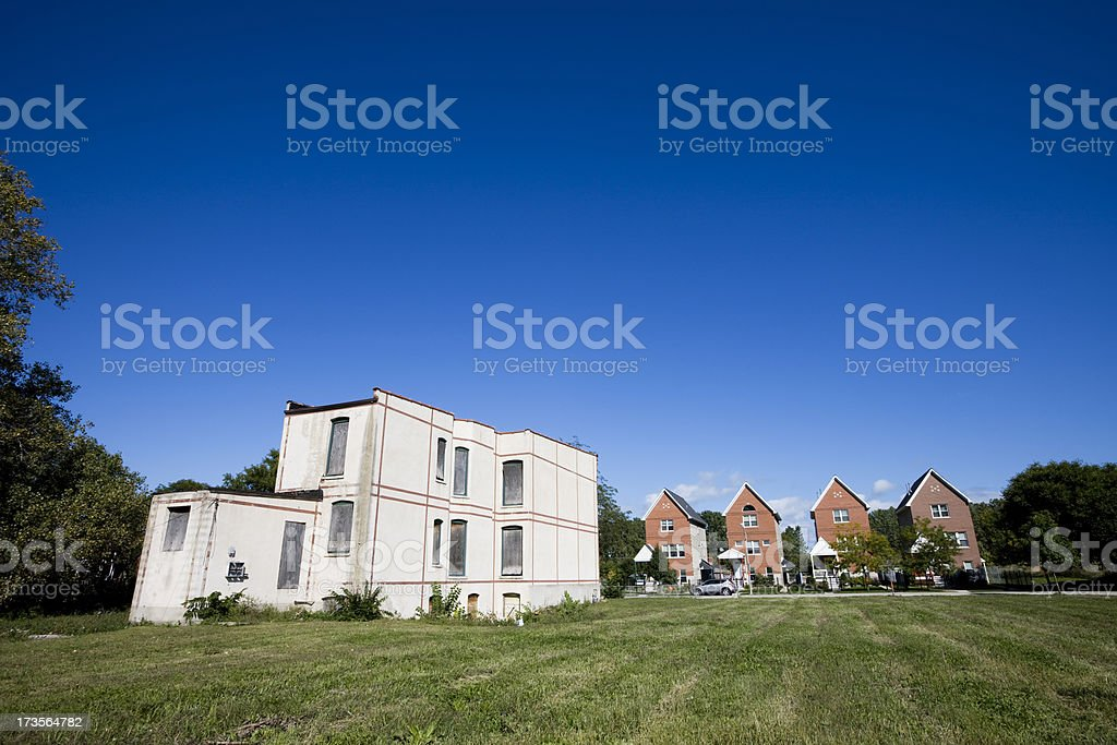Urban Renewal in Chicago royalty-free stock photo