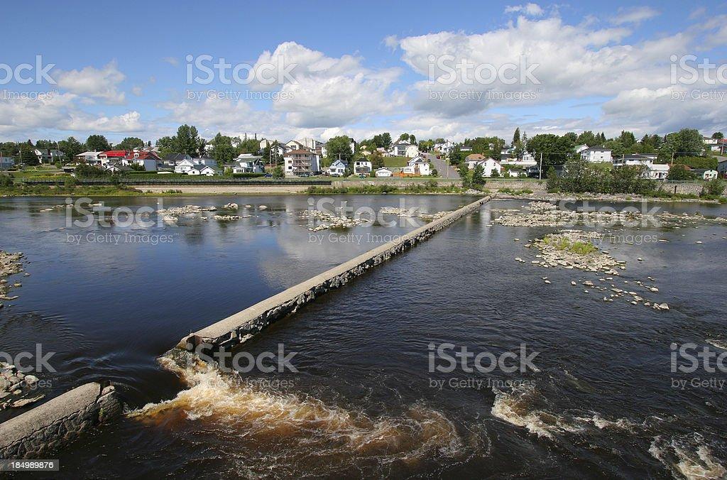 Urban River stock photo