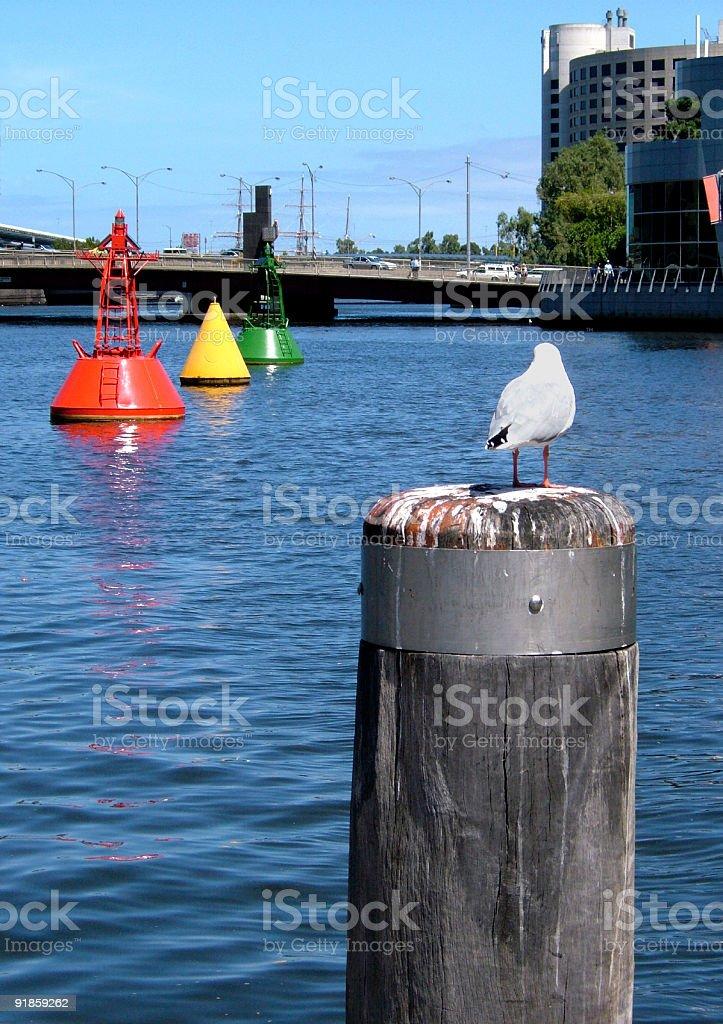 Urban river royalty-free stock photo