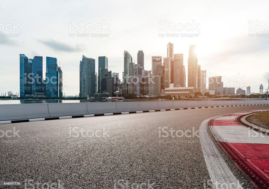 Urban road bildbanksfoto