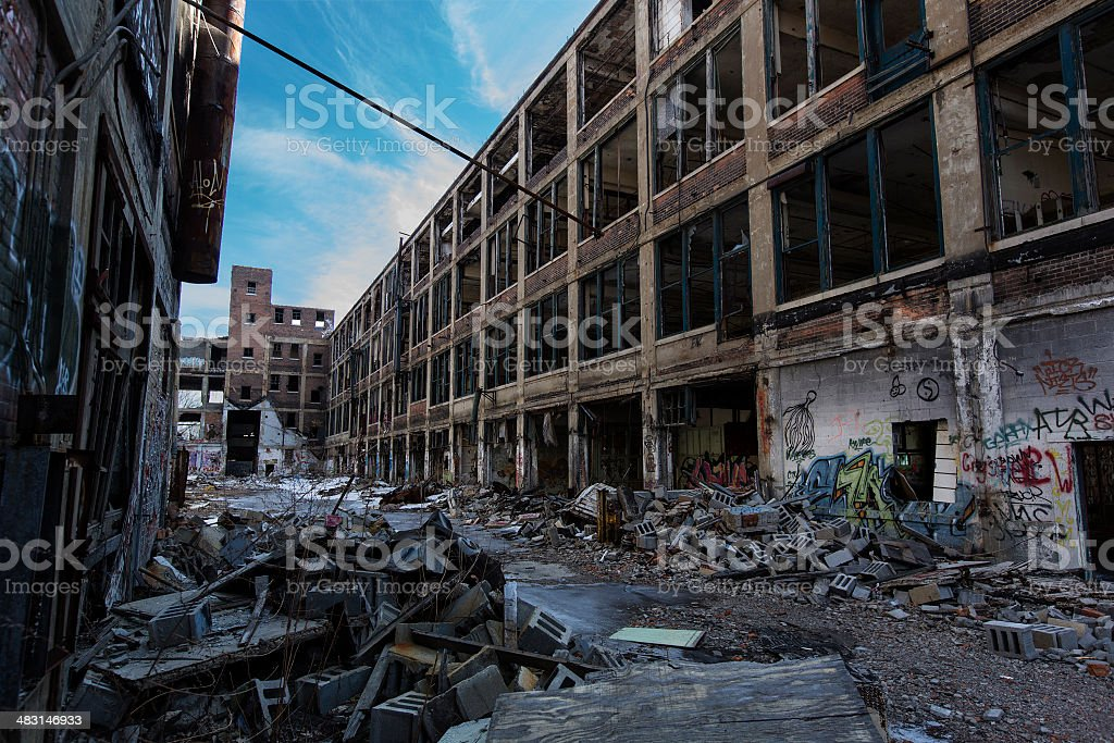 Urban rubble stock photo