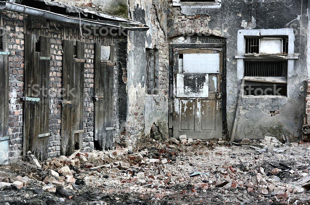 Urban ruins royalty-free stock photo