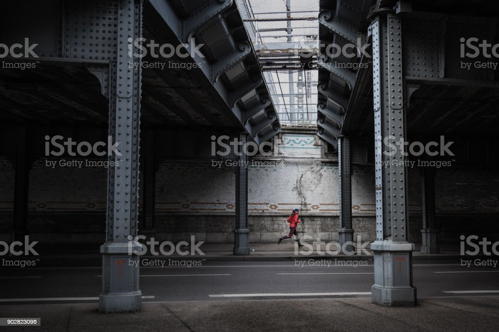 Urban run stock photo