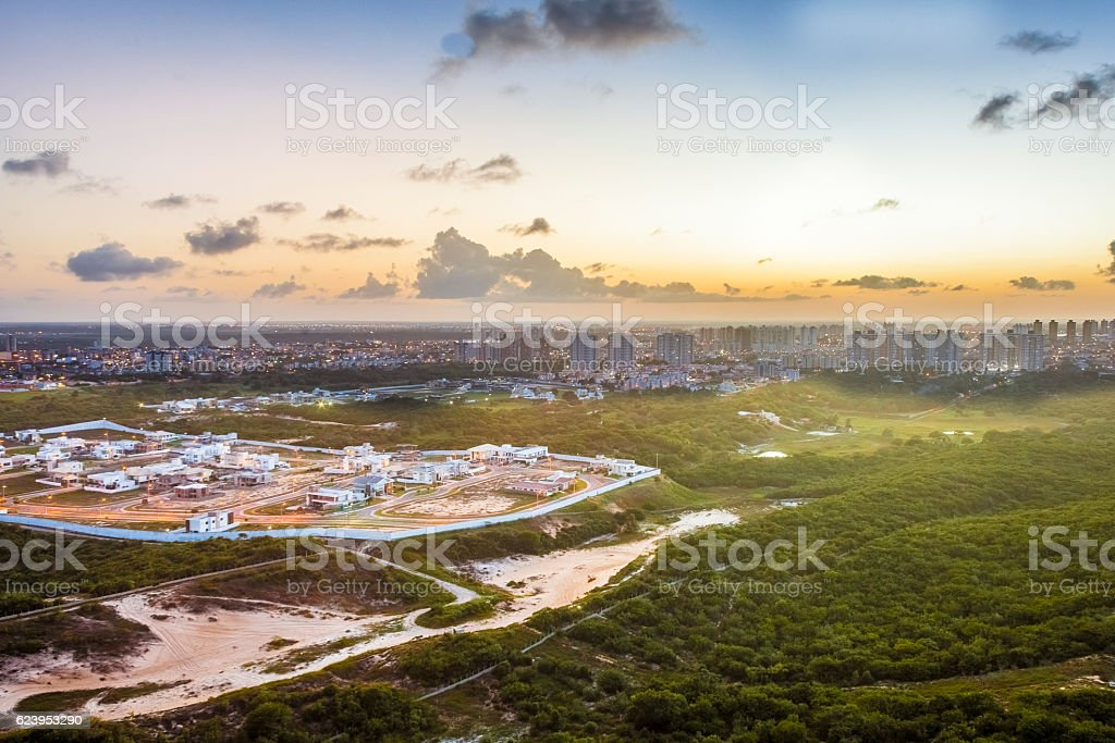 Urban Scene - Aerial Photography stock photo