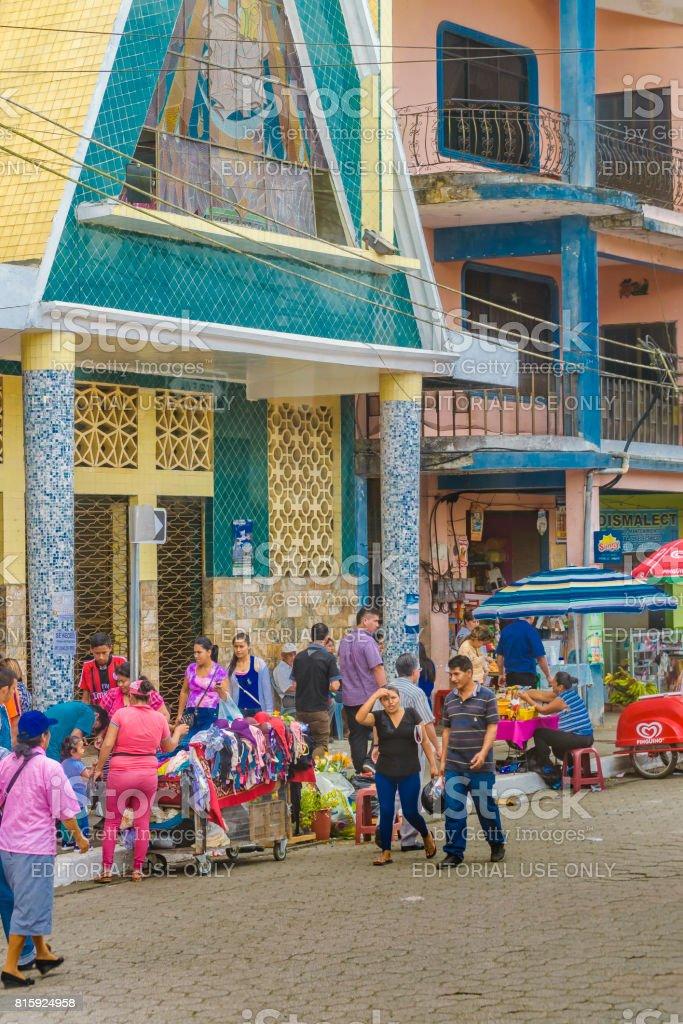 Urban Scene at Milagro Town, Ecuador stock photo