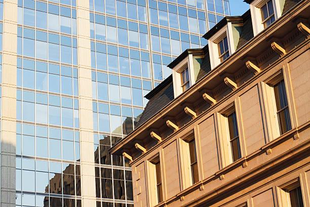 Urban scene in downtown Raleigh, North Carolina stock photo