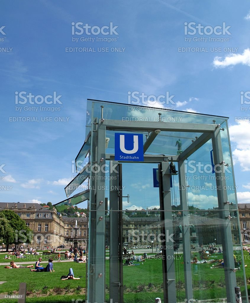 Urban scene in Stuttgart royalty-free stock photo