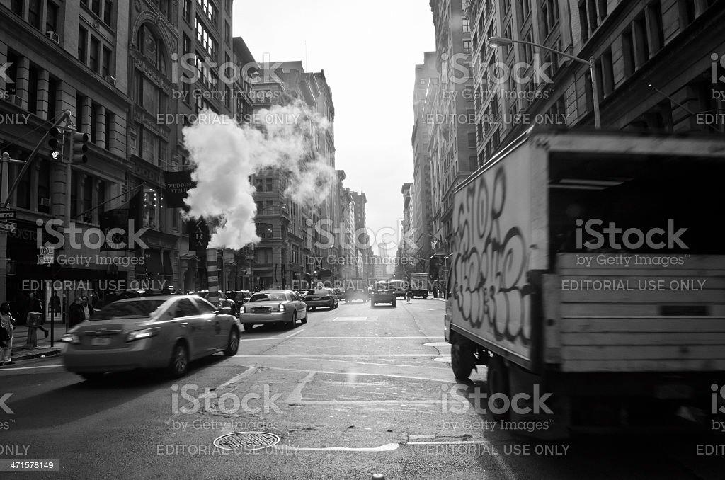 Urban scene NYC royalty-free stock photo