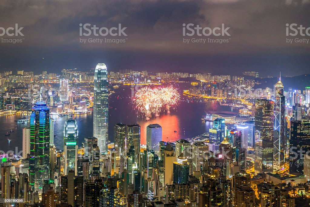 urban scene of hong kong urban scene of hong kong Aerial View Stock Photo