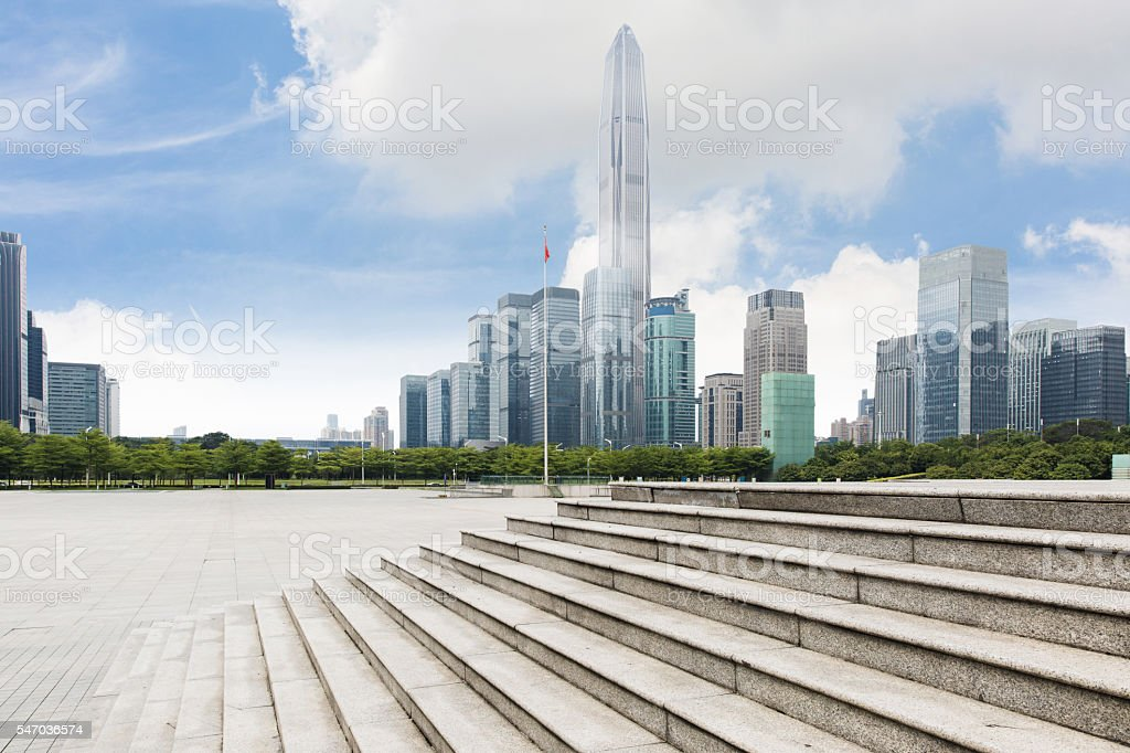 Urban scene of Shenzhen stock photo