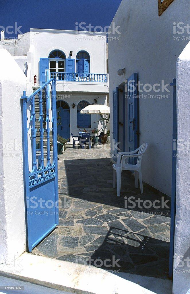 Urban scene on Santorini royalty-free stock photo