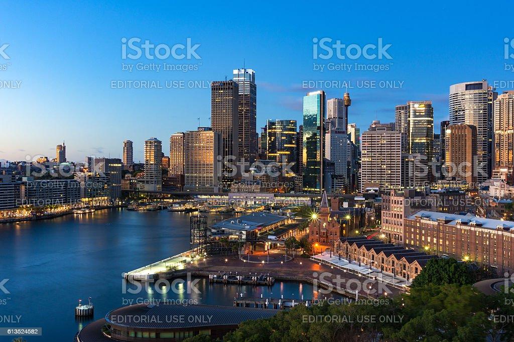 Urban scene with modern architecture stock photo