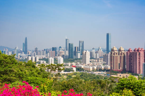 Paisaje urbano de Shenzhen Futian CBD - foto de stock