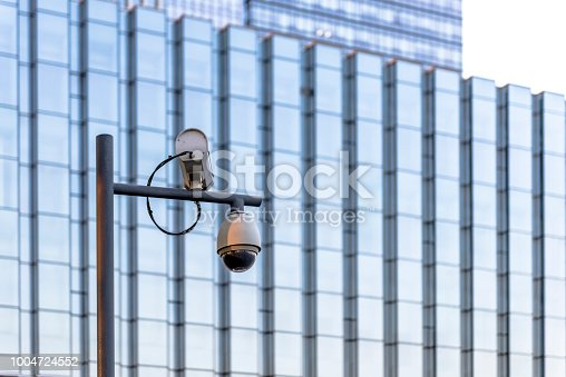 The security infrastructure of modern urban commercial blocks - electronic cameras.