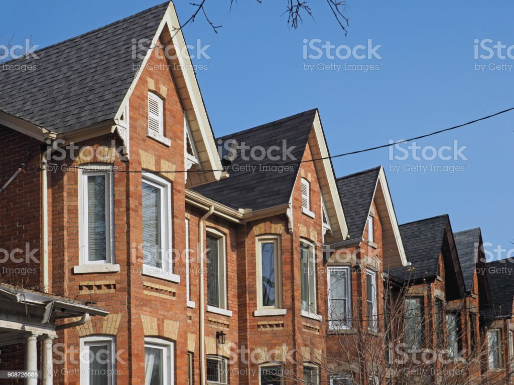 urban semi-detached houses stock photo