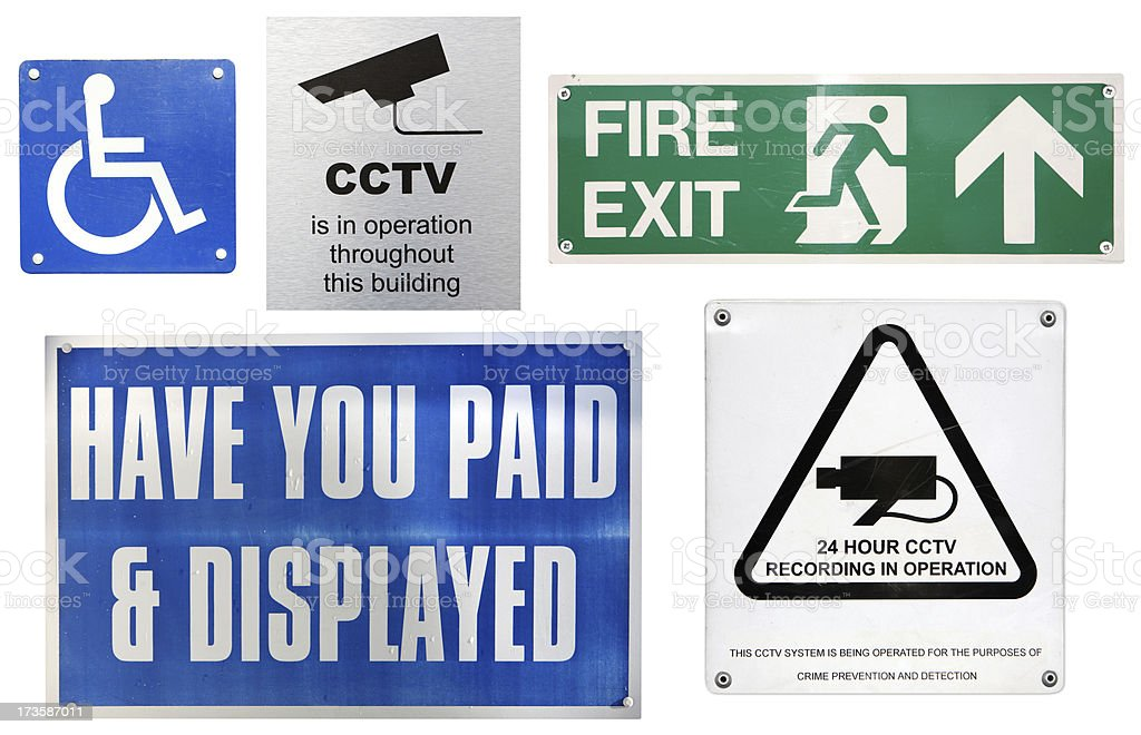 Urban signs royalty-free stock photo