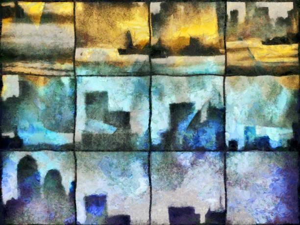Urban silhouettes stock photo