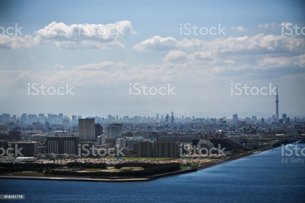 Urban skyline of Chiba stock photo